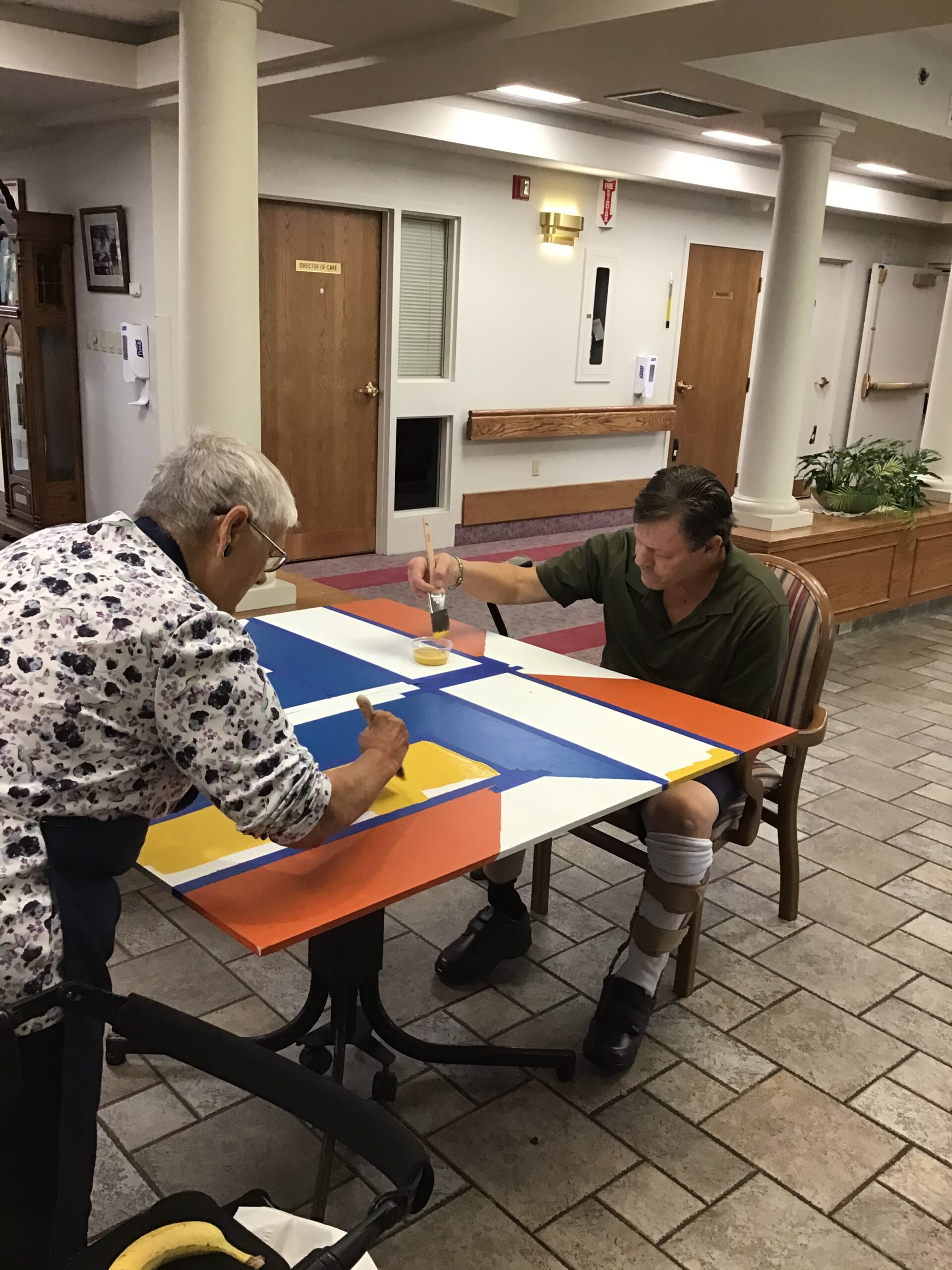Residents at Fiarfield Park in Wallaceburg ON Paint a Barn Quilt