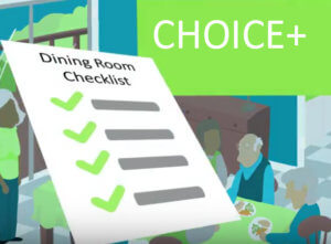 Screen shot from CHOICE+ video highlighting the Dining Room Checklist