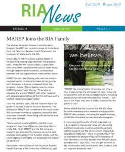 RIA news fall 2018, winter 2019