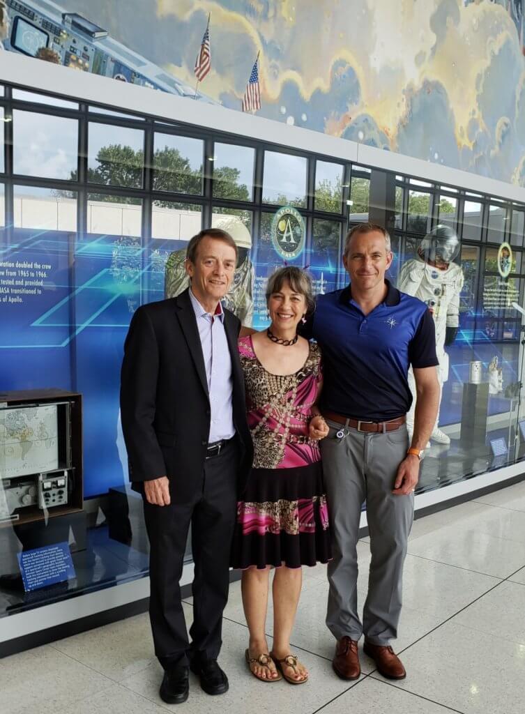 Rich & Nadia Hughson with astronaut David Saint-Jacques