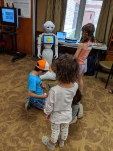 children with robots