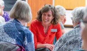 Jane Keupfer speaks to older adults at en event