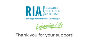 RIA logo and a message of thanks.