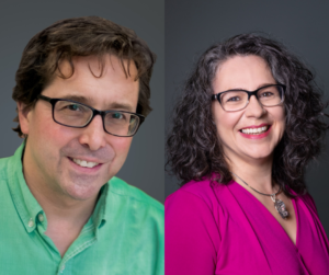 Headshots of Dr. George HEckman and Heather Keller